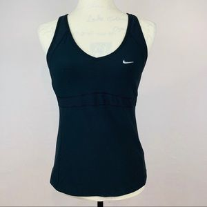 Nike Fit -Dry RaceBack Black Tank Top Size L